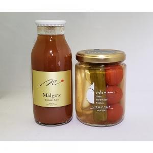 高糖度トマトジュースMalgow・水なすピクルス和風MIX