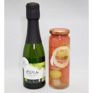 ノンアルコールスパークリングOPIA・フルーツピクルス(グレープフルーツとぶどう)