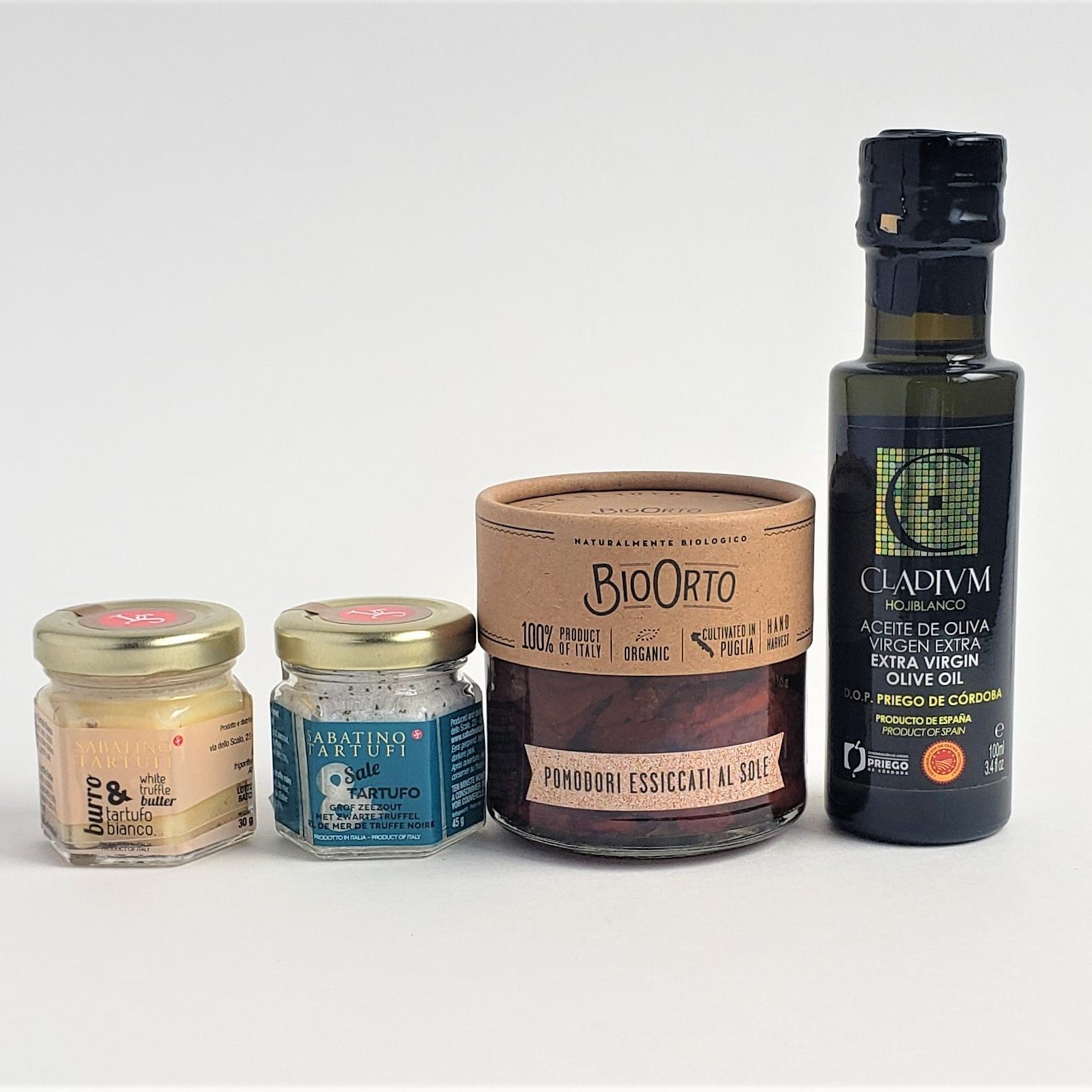 白トリュフバター・黒トリュフ塩・CLADIVM(クラディウン)オリーブオイル・BIOORTO(ビオオルト)ドライトマトのオリーブオイル漬け