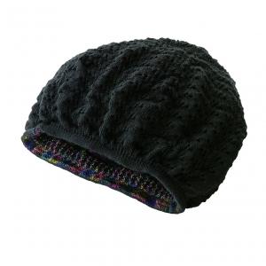 髪にやさしいふんわりニット帽