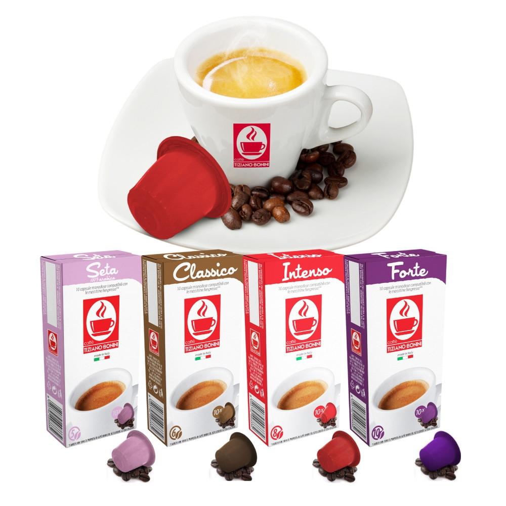 Caffe Bonini(カフェボニーニ)ネスプレッソ互換カプセル4種詰め合わせ