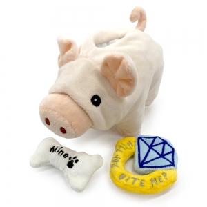 ペット用玩具(豚の貯金箱)