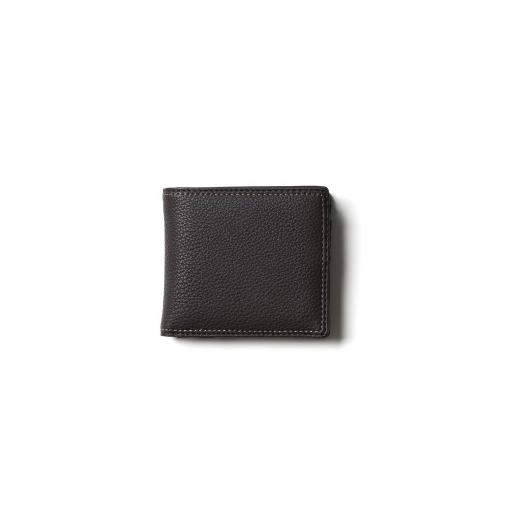 【チェルベ】ダブルステッチ二つ折財布
