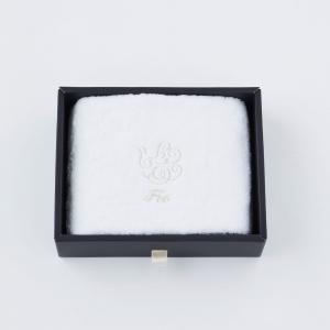 【Foo Tokyo】 オーガニックコットン フェイスタオル1枚入り ギフトセット ホワイト