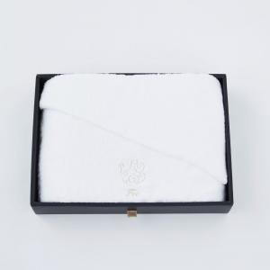 【Foo Tokyo】 オーガニックコットン バスタオル1枚入り ギフトセット ホワイト