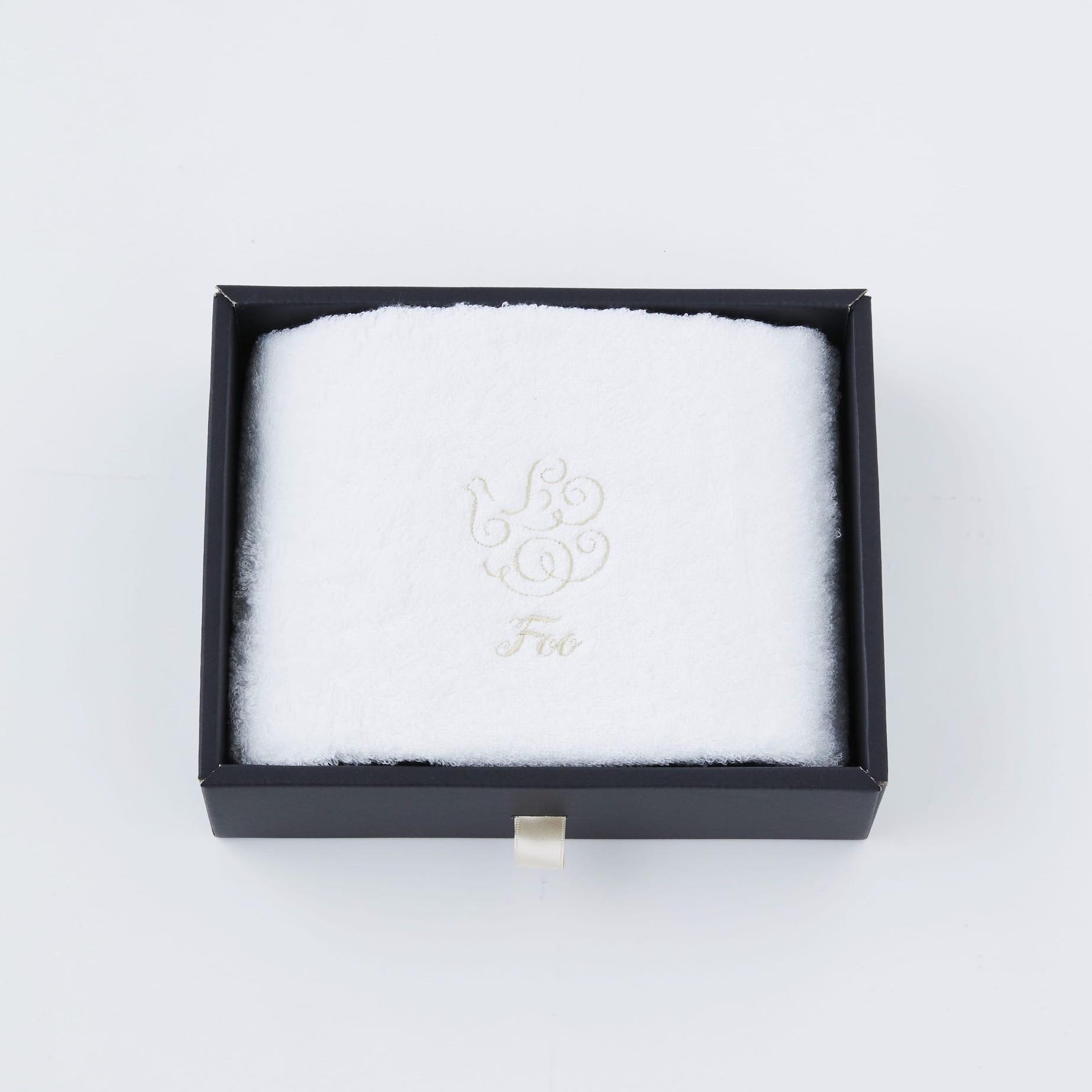【Foo Tokyo】 オーガニックコットン ハンドタオル1枚入り ギフトセット ホワイト