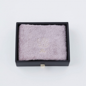 【Foo Tokyo】 オーガニックコットン ハンドタオル1枚入り ギフトセット ピンク