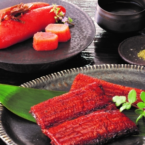 〈ぎおん割烹なか川〉うなぎ蒲焼と柚子明太子セット