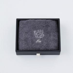 【Foo Tokyo】 オーガニックコットン ハンドタオル1枚入り ギフトセット チャコールグレー