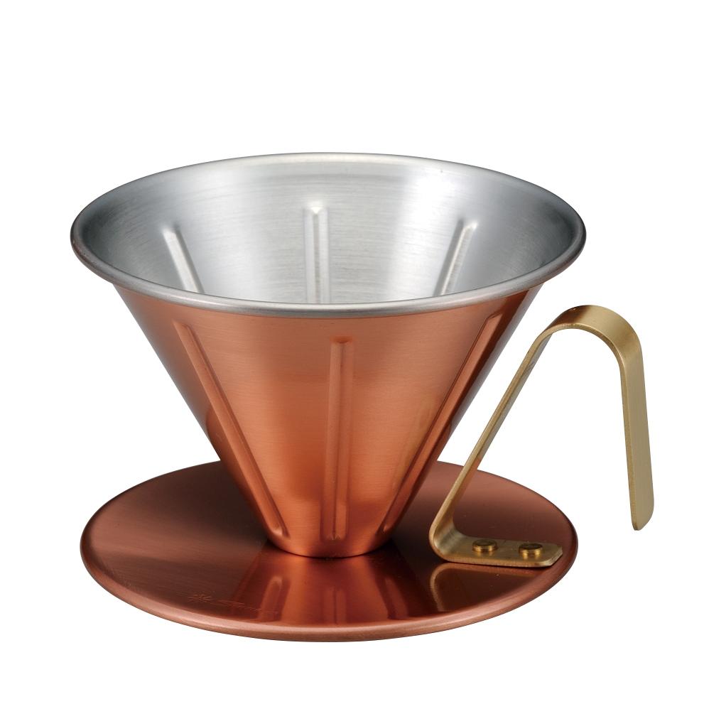 銅のコーヒードリッパーリブ