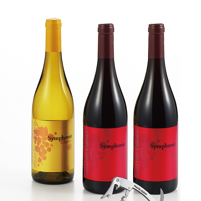 マリ・クレール シンフォニー・ワイン3本セット・ソムリエナイフ付(簡易BOX仕様)