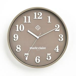マリ・クレール 壁掛け時計(セピア)