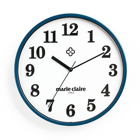 マリ・クレール 壁掛け時計(ネイビー)