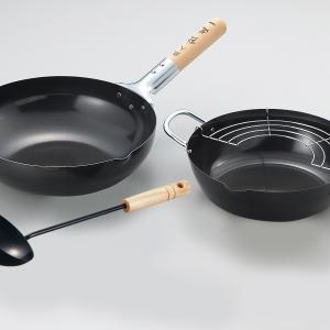 陳建一 本格北京鍋&天ぷら鍋セット(中華お玉付)