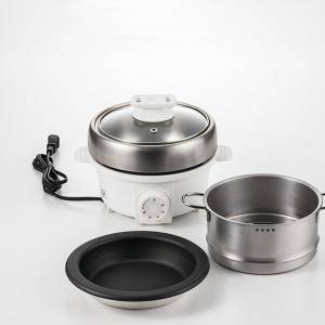 プチ・プレジール 電気ミニグリル鍋 スチーマー付(ホワイト)