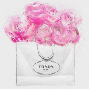 Shopping for Peonies 30.4cm×30.4cm