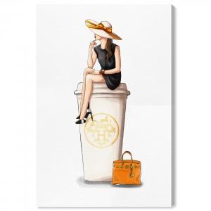 Cafe au Lait Orange 38.1cm×25.4cm