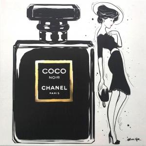 Noir Fashionista 30.4cm×30.4cm