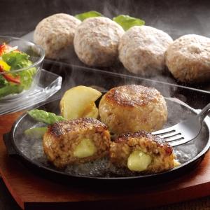 宮崎県産合挽き肉のチーズ入り生ハンバーグ