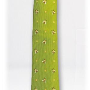 カロラータ NL ネクタイ ミツバチ ライトグリーン