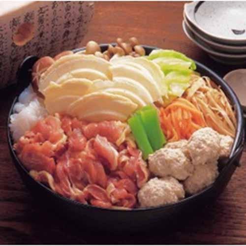 青森県シャモロックせんべい汁