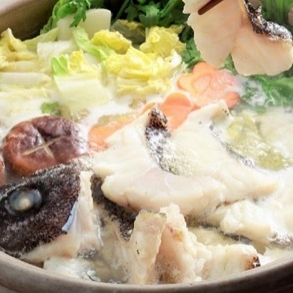 東京 西麻布「かどや霞邸」のクエ鍋セット