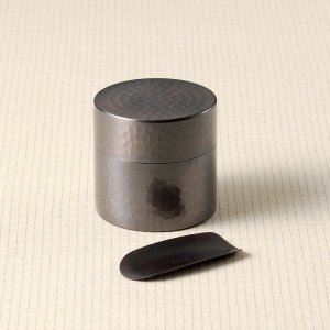 ゆめ 純銅茶筒&茶箕セット CB701
