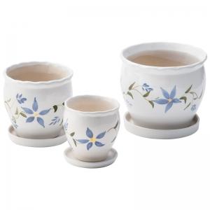 陶器植木鉢3点セット(受皿付) UH03/3DSFB3