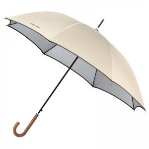 シンプルトゥディ晴雨兼用ジャンプ長傘ベージュ714085