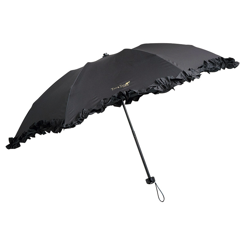 テンテン 晴雨兼用フリルミニ傘 718022