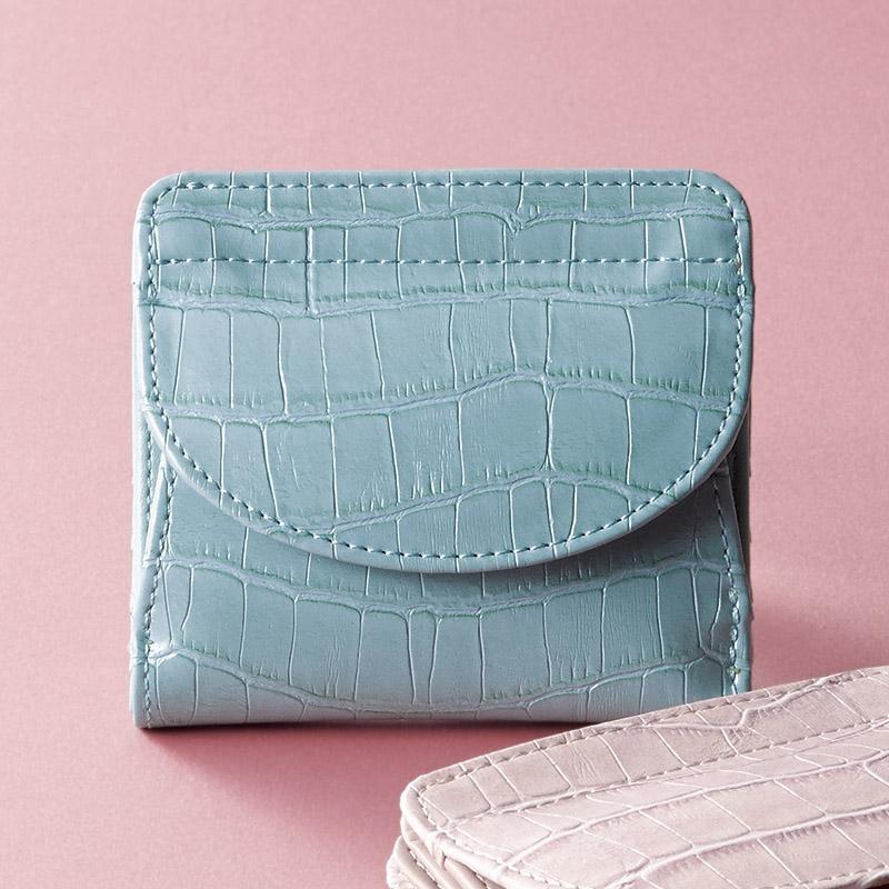 イルムス ホック式財布 ブルー S-IL1435BL