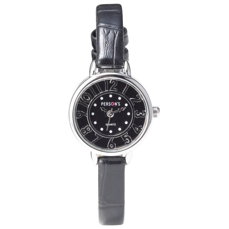 パーソンズ レディース腕時計 ブラック PE-030B