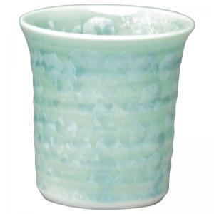 京焼 花結晶 陶あん窯焼酎杯 緑 トウア830