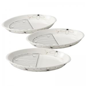 マーガレット スノコ付楕円皿3P WN-40CW