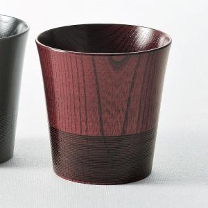 山中塗 「伝」ロックカップ(1P) 朱 6012