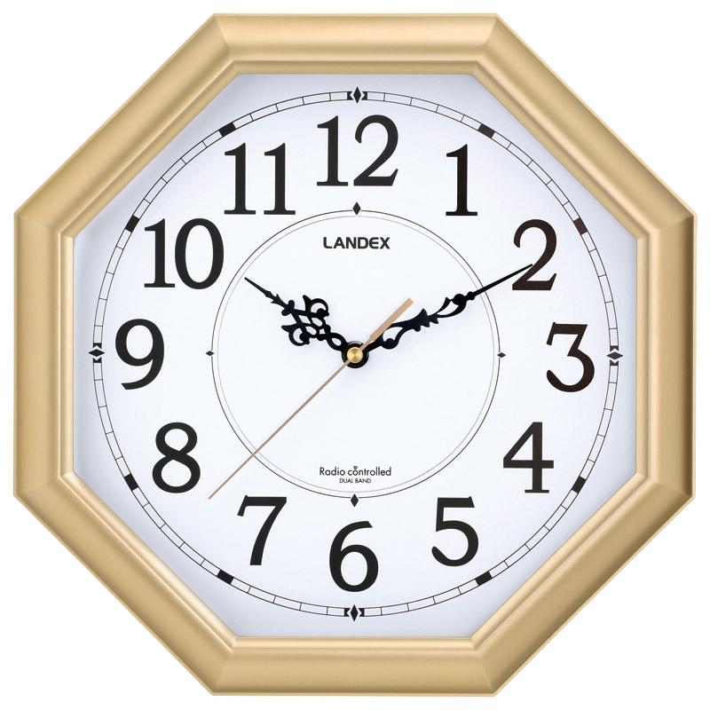 ランデックス 八角電波掛時計 金閣 YW9145GD