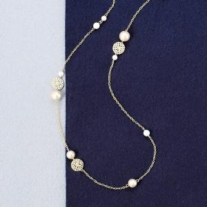 コットンパールファッションネックレス CT0014