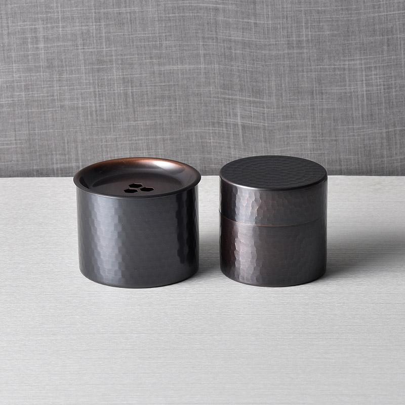 食楽工房 純銅茶筒(小)&建水セット CB720