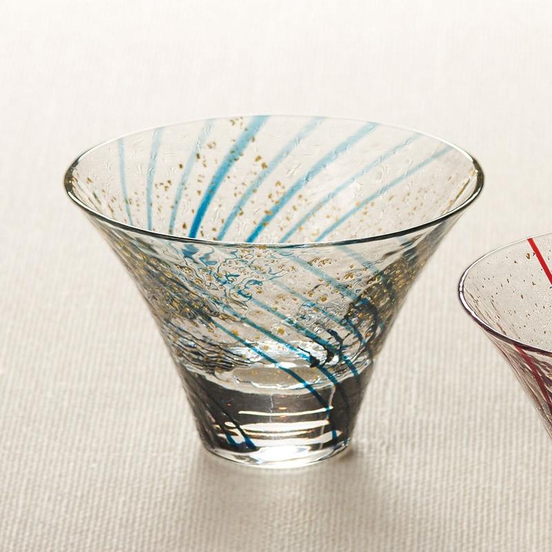 江戸硝子 八千代窯 杯 涼み酒 10783