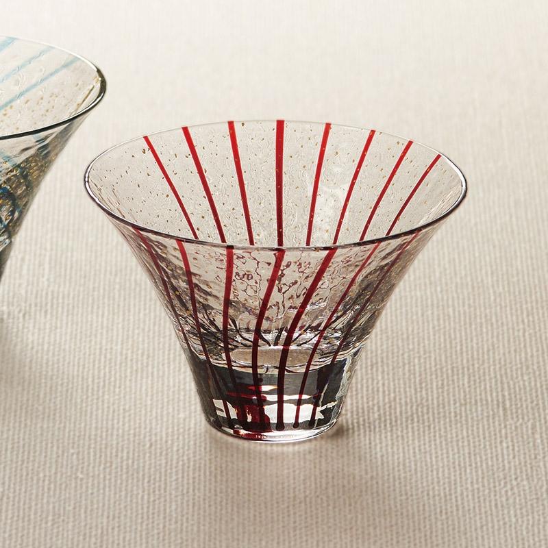 江戸硝子 八千代窯 杯 花見酒 10782
