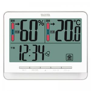 タニタ デジタル温湿度計 ホワイト TT-538-WH