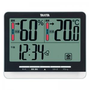 タニタ デジタル温湿度計 ブラック TT-538-BK