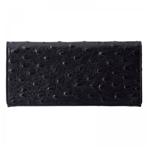 チェルベオーストリッチ型押長財布ブラック S-CBM10509BK