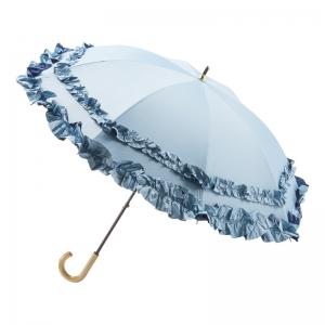 トゥジュールアンサンブル 晴雨兼用Wフリルパラソル 712134