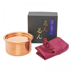 純銅製入れ歯ポットるんるん(ポーチ付) KS-2804