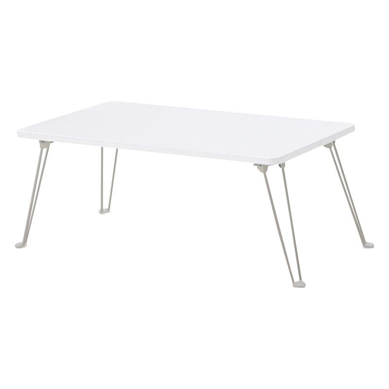鏡面シンプルテーブル ホワイト PUT-8040 WH