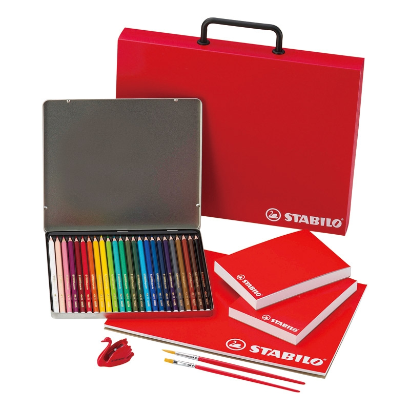 スタビロ 水性色鉛筆セット STBSET-8001