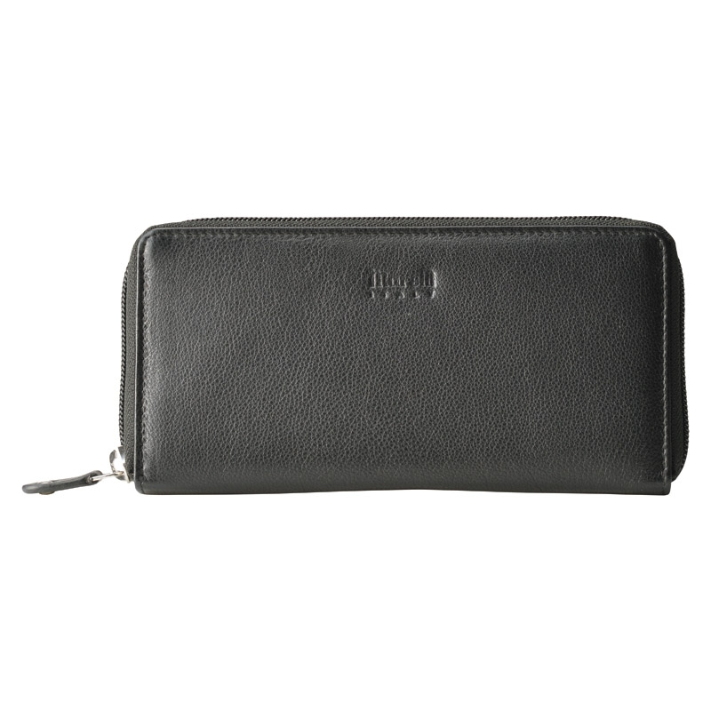 マレリー 紳士ラウンドファスナー財布 ブラック MPC2080