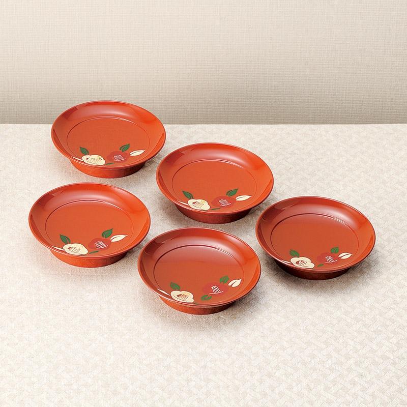 紀州塗 たまゆら銘々皿5枚揃 701-10