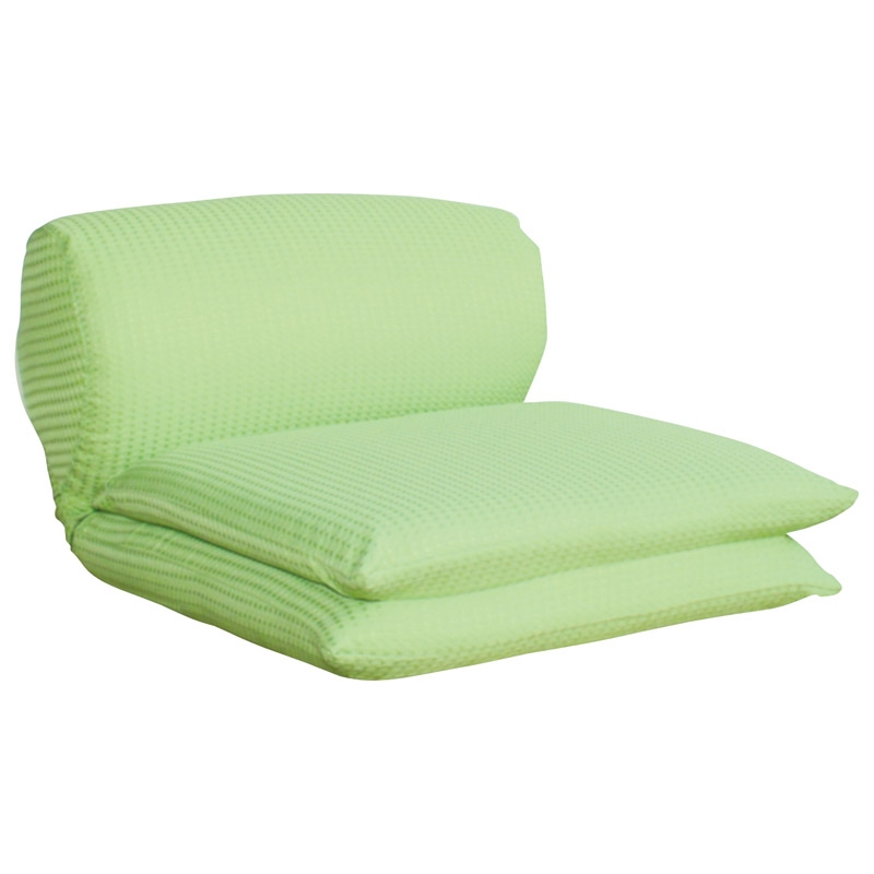 ごろ寝座椅子 グリーン ワッフルGN